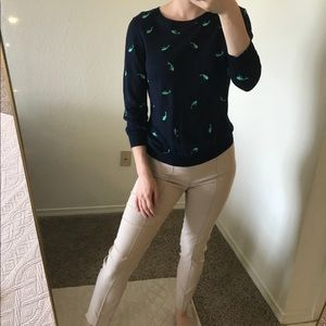 J.Crew embroidered whale sweater